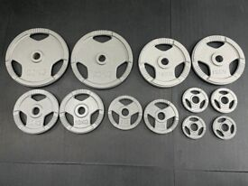 107.5kg Cast Iron Tri-Grip Olympic Weight Plates
