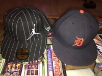 2 x fitted baseball caps