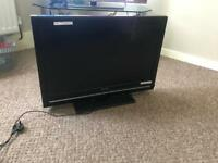 "32"" inch sharp tv with remote."