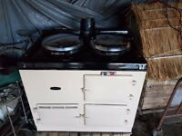 2 Oven Gas AGA Cream Great Condition Aga Flue all receipts and services already removed