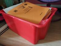 IKEA stack and storage boxes - red 12nos - blue 15nos
