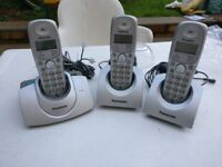 Panasonic digital cordless triple phon noe set
