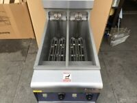 new electric 2 tank fryer CATERING COMMERCIAL KITCHEN CAFE KEBAB RESTAURANT SHOP