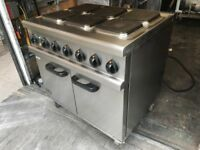 ELECTRIC 3 PHASE COOKER AND OVEN CATERING COMMERCIAL KITCHEN EQUIPMENT CAFE KEBAB CHICKEN SHOP BAR