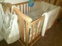 New cot and accessories