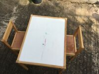 Children's Table with 2 Chairs (IKEA LATT)