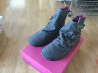 Grey ankle boots size 6