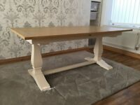 Next hardwick extending dining table