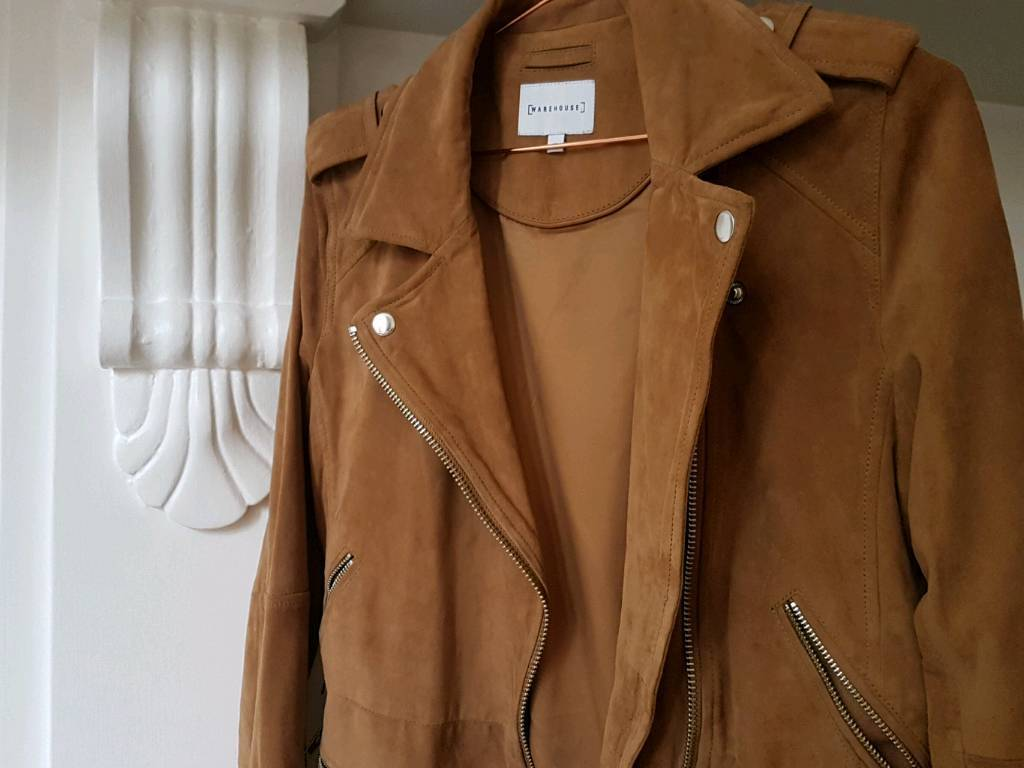Warehouse brand, New authentic jacket real leather, suede fabric