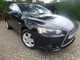 2011 MITSUBISHI LANCER GS2 DI-D STUNNING BLACK LOW MILEAGE 5 DOOR DIESEL