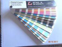 Kohl & Madden Pantone Formula Colour Guide Booklet