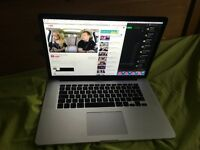 Macbook pro 2015 15 inch Retina 16gb Ram 2gb Graphics 1tb PCIE SSD 2.8 MHZ I7 quad core