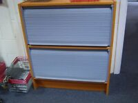 Ikea 2 Roller Door Grey Wood Cabinet x 7 £20.00 Each