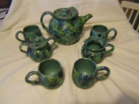 Pottery tea set Stanford Coles Pottery 2001 signed Kenneth Googe perfect condition