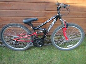 Bikes to suit age 9 to 12 years with 24 inch wheels £50 each