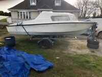 16ft microplus 501 cabin boat and galvanised trailer...£650 Downpatrick