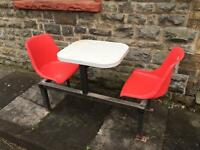 Canteen table and chairs