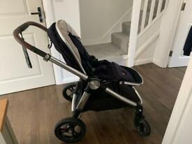 Mama Papas Ocarro Pram Signature Edition Dark Navy Pram (New Chassis & Wheels)