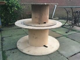 Used electric cable drums