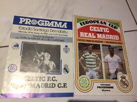 Celtic v Real Madrid programmes