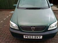 7 seater zafira for sale or swap