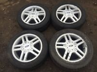 """For sale - Ford Fiesta / focus 15"""" alloy wheels - excellent tyres"""