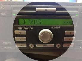 Ford Focus transit mondeo connect stereo decoding (locked resetting)