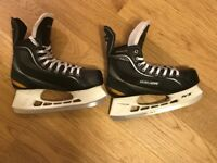 NIKE BAUER Black Supreme One 20 Ice Hockey Skate Boots Mens Size 10