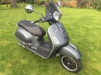 ***SOLD***Vespa GTS 300 Super Sport limited edition in mat grey, like new.