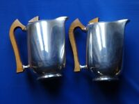 A Pair of Picquot Ware Coffee/Hot Water Jugs, Good Condition, Approximately 7.5 inches Tall