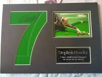 Snooker signature Stephen Hendry