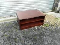 Dark wood tv table