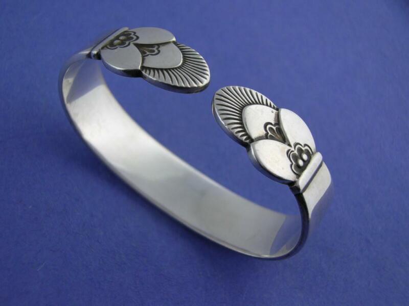 Sterling GEORG JENSEN Napkin Ring CACTUS ~ Denmark