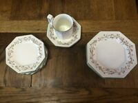 JOHNSON Bros FINE ENGLISH TABLEWARE : ETERNAL BEAU : VGC : SIDE PLATES, MUG/SAUCER : £2-£3ea