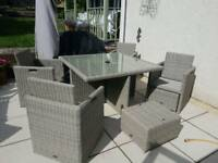 Rattan garden table (no chairs)