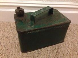 Vintage Green Metal Petroleum Spirit Jerry Can