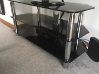 Glass television tv stand - really good condition £10