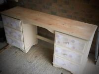 Solid Pine Shabby Chic Dressing Table