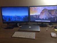"""2 x 22"""" AOC PC Monitors"""