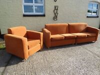 Large 4 Seat Sofa With Armchair Delivery Available