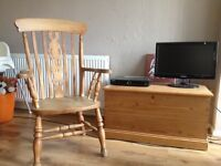 Pine Grandad Chair