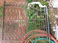 Pair ornate 15' wide metal driveway gates