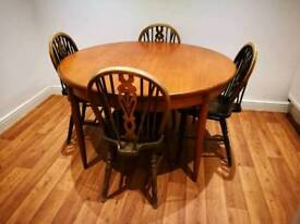Gplan table with 4 chairs
