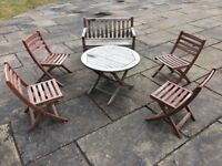 Alexander Rose Children's Cornis garden furniture set - table, chairs and bench