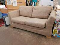 Beige Fabric Two Seater Sofa With metal action sofa bed