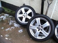 jaguar s type genuine alloys all with good tyres wheels in good condition a few scratches thats all