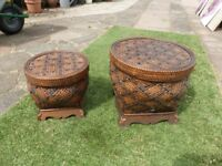 2 x Storage stackable boxes / trunks (unusual) Only £20