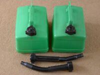 2 off 5L (1 gallon) TetraCan Plastic Petrol Cans.