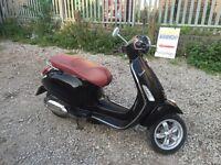 Vespa Piaggio primavera 125, 2012, Black, delivery, finance,