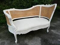 Vintage white chaise longue